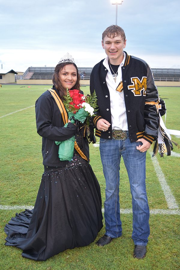 Homecoming Queen Beyonce Montoya and King Nash Willingham