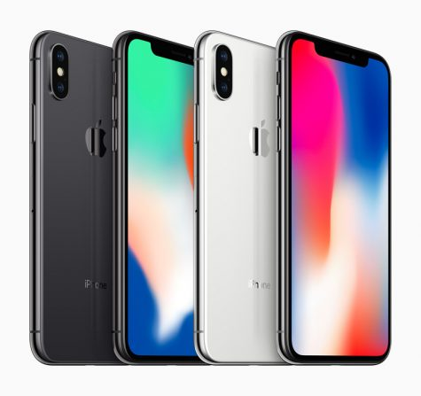 The new iPhone X family from Apple.