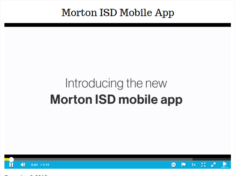 Morton ISD Mobile App