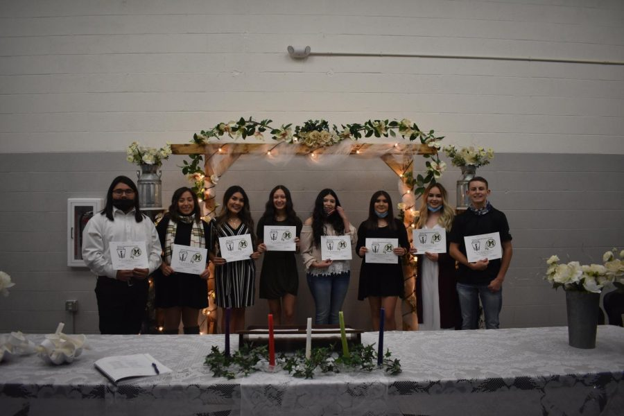 National Honor Society new inductees for 2020